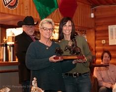 Tanya Watkins accepting 1000 Limit Rider Dave Robson Award